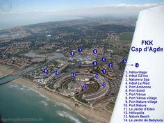 Plan Cap d'Agde Naturiste Luftaufnahme 2011 groß   FKK-Urlaub Cap d'Agde Naturiste