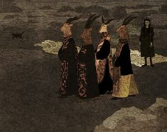 Women In Art History — Procession: Tin Can Forest (Marek Colek and Pat. Art Noir, The Ancient Magus, Chef D Oeuvre, Canadian Artists, Horror Art, Gothic Horror, Macabre, Occult, Dark Art