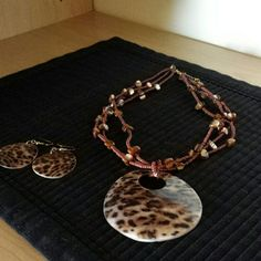 Jewelry Animal print  necklace w/earings Jewelry Necklaces