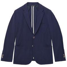 mens preppy clothing   Gant Men s Preppy Pique Jacket Blazer Pilot Blue