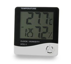 3Q Portable Digital Hygrometer Hygro Thermometer With Alarm Clock LED Display