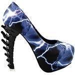 Skull Print Bone Heel Shoes