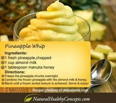 Diary of a Fit Mommy: Pineapple Whip Recipe