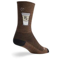 "SockGuy Addict Socks Cuff Height : 6"" $13.95"