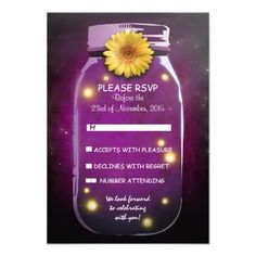 See MoreFireflies & Mason Jar Whimsical Wedding RSVP Invitestoday price drop and special promotion. Get The best buy