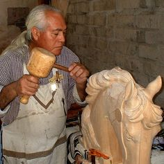 Native American Woodcarver by Ideaholic, via Flickr