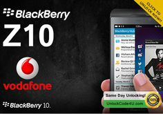 How to Unlock BlackBerry By unlock code from Vodafone Blackberry 10, Coding, Day, Programming
