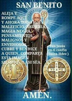 Oración a san Benito abad Faith Prayer, God Prayer, Catholic Quotes, Religious Quotes, Catholic Prayers In Spanish, Archangel Prayers, Spiritual Prayers, Miracle Prayer, Religious Education