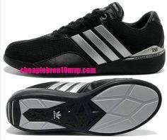 Adidas Running Porsche 550 Mens Shoes Rs Textile Triple Black Silver -$61.53|Cheap Adidas Sneakers