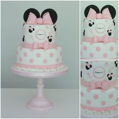 This week's theme is 'Minnie Mouse Cakes', and what an adorable, cute and beautiful collection it is! Please feel free to add any of your Minnie Mouse cakes below and congratulations to all the members featured – I love them all! Mickey And Minnie Cake, Minnie Mouse Birthday Cakes, Bolo Minnie, 1st Birthday Cakes, Minnie Mouse Party, Birthday Ideas, Bolo Laura, Mini Mouse Cake, Disney Cakes