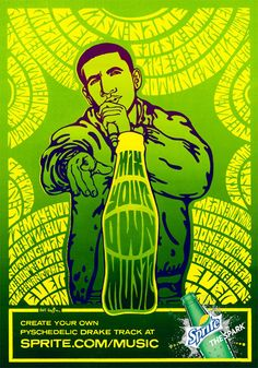 Sprite Mix Your Own Music Posters by Wes Wilson. | Glad to see some brands are still employing great artist. Always admired how Wes incorporated text into his images.