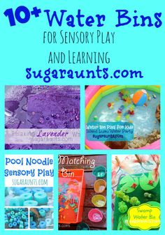 Sugar Aunts: Water Bin Play Ideas for Kids play series Water Games For Kids, Indoor Activities For Kids, Sensory Activities, Hands On Activities, Preschool Ideas, Play Based Learning, Learning Through Play, Fun Learning, Learning Activities