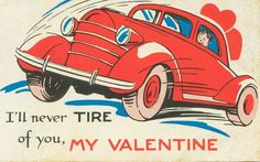 Here's a special Valentine for all the car lovers out there.  Happy Valentine's Day!