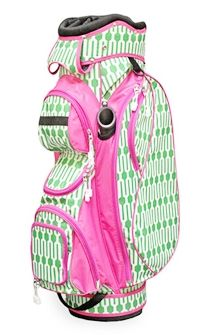 Play Golf In Style Pink And Green Golf Bag PinkMeadow.com