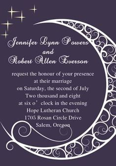 Snuggle Moon and Shinning Star Wedding Invitation IWI086