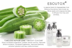 Either you eat tons of slimy OKRA and reap its anti-aging benefits OR have an Organic Facial with Escutox and use the Pevonia Timeless Repair line. You choose! http://www.pevonia.com.au/Timeless-Repair-Line-Ligne-Myoxy-Caviar.html #antiaging #timeless