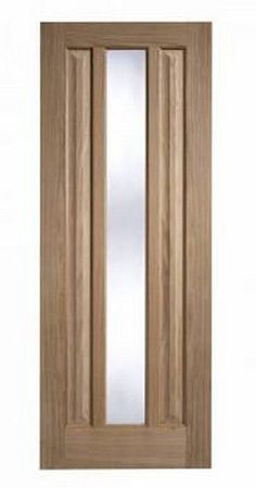 Kilburn Contemporary Oak Unfinished Glazed Door, Various sizes, Interior   eBay
