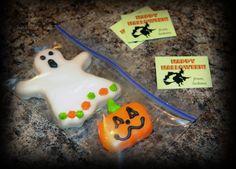 Halloween Treat Bags - Kids Party - Halloween Party - School Treat - ORDER CUSTOM COOKIES HERE https://www.facebook.com/media/set/?set=a.106611979816.80769.106597134816&type=3