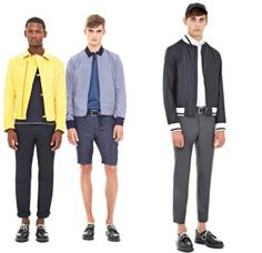 2014 Men's Color Trends ... dkny-donna-karan-2014-spring-summer-mens-presentation-new-york-fashion-week-show-white-chinos-blazers-parka-bomber-varsity-jacket-motorcycle-biker-blue-02x └▶ └▶ http://www.pouted.com/?p=36616