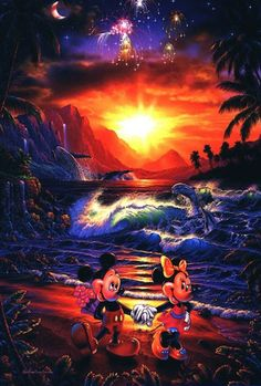 "Limited Edition #Disney ""Seaside Romance"" Print Signed by Artist Christian Riese Lassen"