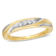 Ladies' Diamond Accent Swirl Wedding Band in 10K Gold - Zales
