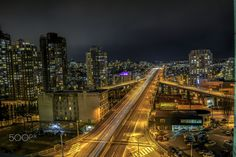 """Another set of #photos of the same scene I uploaded before of the #Granville #Street #Bridge in #downtown #Vancouver, I was on the roof deck of one of the buildings there.. this set were processed as #HDR with a better tool.  I think it came out much nicer.   #night #nightphoto #nightphotography #bc #nikon    <a href=""""http://www.facebook.com/thelucideye"""">Check The Lucid Eye on Facebook!</a>  <a href=""""http://www.twitter.com/thelucideye"""">Follow The Lucid Eye on Twitter!</a>"""