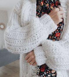 Tuto : le gilet au crochet à grosses mailles comme au tricot