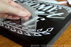 This is such a great tutorial for making your own wooden sign!  Home Sweet Home Sign with FREE Cut File! | Where The Smiles Have Been