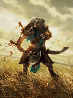 MtG Art: Ajani, Mentor of Heroes from Journey into Nyx Set by Aaron Miller - Art of Magic: the Gathering Fantasy Warrior, Fantasy Races, High Fantasy, Fantasy Rpg, Medieval Fantasy, Fantasy World, Fantasy Inspiration, Character Inspiration, Writing Inspiration