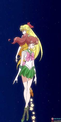 Jupiter and Venus Sailor Jupiter, Sailor Venus, Sailor Moon S, Sailor Mars, Sailor Moon Crystal, Sailor Mercury, Moon Art, Princess Zelda, Manga