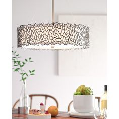 Kichler Lighting Silver Coral Collection 4-light Classic Pewter Chandelier/Pendant, Grey (Steel)