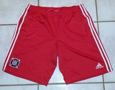 ADIDAS Chicago Fire MLS Red Soccer Shorts #mls#chicagofire#chicago#soccer#futbol#ebay#ebayseller
