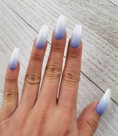 May 2020 - Lavender French fade nails, fake nails, press on nails. Choice of ma French Fade Nails, Faded Nails, Almond Acrylic Nails, Best Acrylic Nails, Nail Swag, Glue On Nails, My Nails, Gel Ombre Nails, Orange Ombre Nails