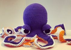Your place to buy and sell all things handmade Crochet Numbers, Crochet Octopus, Amigurumi Tutorial, All Things Purple, Amigurumi Toys, Pet Gifts, Handmade Toys, Color Themes, Crochet Hooks