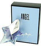 Angel Eau De Parfum Spray Women .85 fl. oz. By Thierry Mugler. Angel perfume was designed by THIERRY MUGLER in 1993. Its fragrant nature explores essences of honey, chocolate, and caramel and is blended with notes of vanilla, patchouli, and sandalwood. Angel shower gel is the perfect addition to the perfume, creating an alluring scent all over. Angel perfume is packaged in a beautiful star shaped bottle and is enclosed in a blue box. Thierry Mugler also designed the fragrance Angel Innocent.