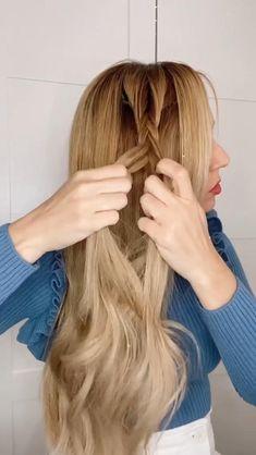 Bun Hairstyles For Long Hair, Pretty Hairstyles, Braided Hairstyles, Front Hair Styles, Medium Hair Styles, Curly Hair Styles, Hair Style Vedio, Hair Upstyles, Magic Hair