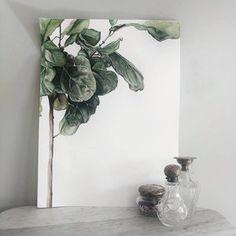 Fiddle Fig Leaf Tree Painting