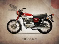 Honda Cb350 1970 Print By Mark Rogan