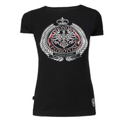 Damska koszulka 'Honor i Patriotyzm' - przód ---> Streetwear shop: odzież uliczna, kibicowska i patriotyczna / Przepnij Pina!