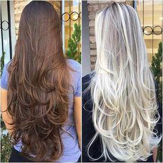 New Hair Layered Long 2018 64 Ideas Haircuts For Long Hair With Layers, Long Layered Haircuts, Long Hair Cuts, Layered Long Hair, Beautiful Long Hair, Gorgeous Hair, Silky Hair, Hair Dos, Pretty Hairstyles