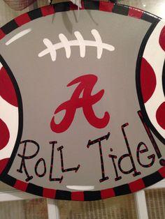 Roll Tide Alabama College Football Door Hanger Alabama College Football, Bama Football, Football Stuff, Football Door Hangers, New York Daily News, Local Women, Wooden Ornaments, Roll Tide, Red Hats