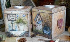 """Купить Короб-подсвечник """"Sweet home"""" - короб для кухни, коробка для мелочей, короб для хранения, кантри"""