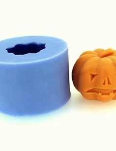 Halloween Pumpkin Fondant Cake Chocolate Candle Silicone Mold,L4.3cm*W4.3cm*H3.4cm *** Details can be found by clicking on the image.