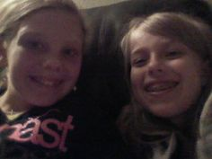 Celebrating my eleventh birthday with my cousin.