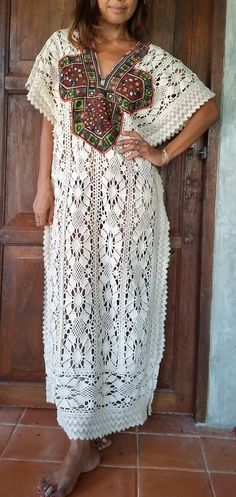 Sale Woman's Long Lace Maxi Dress/Long Poncho with