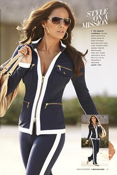 LOVE this chic zippered outfit.  $159 @ Boston Proper.