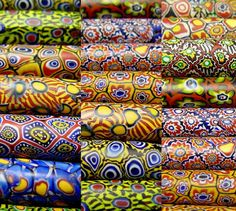 Antique Venetian Millefiori beads from the African trade circa late 1800's, early 1900's