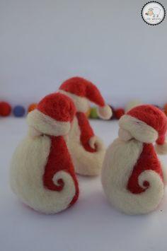 Needle felted Santa Claus Felted Santa Christmas needle | Etsy