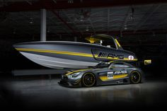 Another year, another collaboration between luxury performance car tuner Mercedes-AMG and performance boat maker Cigarette Racing Team. Unveiled at the Miami International Boat Show over the weekend, the Cigarette Racing Team SD is Mercedes Benz Amg, Mustang 350r, Miata Hardtop, Ford Mustang Wallpaper, Daimler Ag, Mazda Miata, Automotive News, Performance Cars, Racing Team