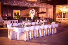 Beautiful Outdoor Arrangement from Amina & Nasir's Wedding | BellaNaija Weddings| Photography by BMB Photgraphy